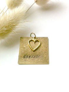 Metal Stamped Bronze Pendat